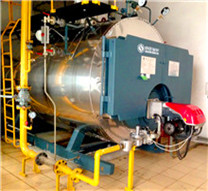 industrial oil and gas horizontal steam boiler