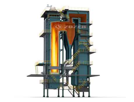CFB(circulating fluidized bed )coal fired hot water boiler